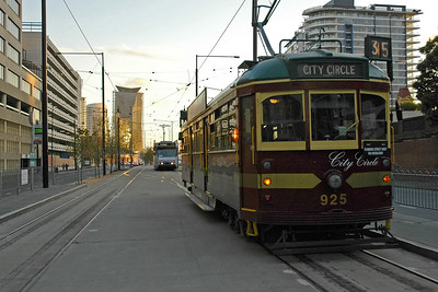 "Melbourne visitors can use the City Circle Tram which operates daily along a city circuit passing a number of Melbourne attractions. The trams have a This ""hop on, hop off"" feature. Melbourne, Victoria (VIC), Australia"