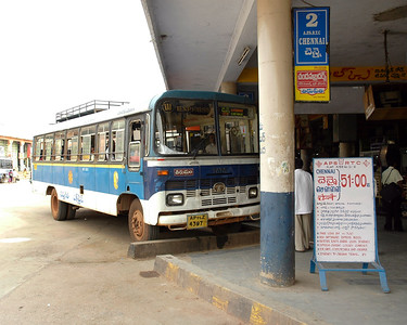 Andhra Pradesh State Transport Bus service between Chennai and Tirrupati, AP.