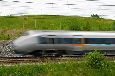 Flytoget BM71 Airport Express train (Flytoget), which operates Drammen- Oslo-Gardermoen airport