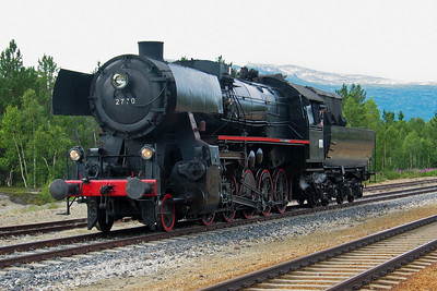 Stortysker / Big German Norwegian Railway Club's steam engine type NSB 63a 2770 at Bjorli st.