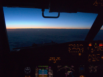 Into the dawn Flying into the dawn, from a SAS Braathens Boeing 737 NG