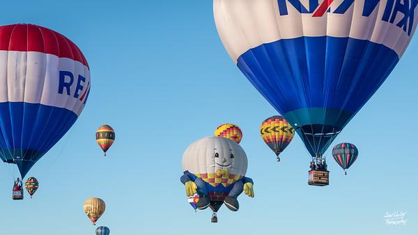 Albuquerque Balloon Fiesta.  Shot in Albuquerque, NM in October 2017. © John Schiller Photography