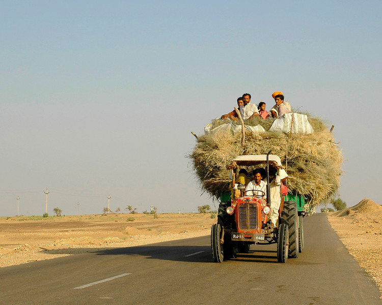 Various modes of transportation both for good and people. As shot in India