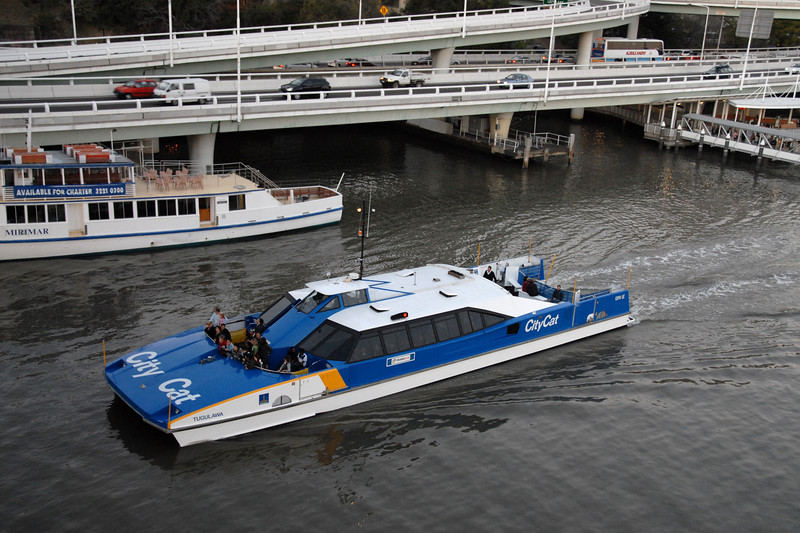 City Cat - water taxi service in Brisbane, Australia.