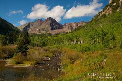 Maroon Bells and Stream