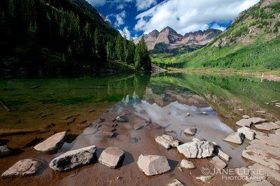 Maroon Bells and Rocks