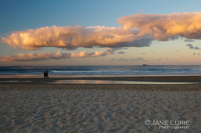 Beachwalkers at Sunset, Byron Bay