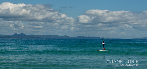 Paddle Board Solitude, Byron Bay
