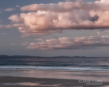 Solitary Swimmer, Byron Bay
