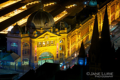 Night, Flinders Station