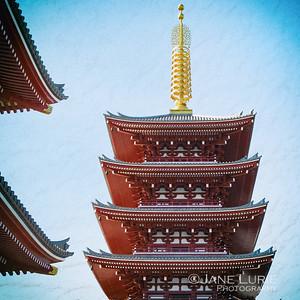 Pagoda, Senso-ji Temple