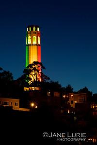 Coit Tower with Pride
