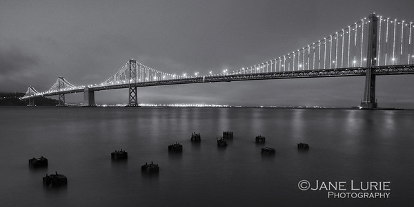 Bay Bridge Lights, B&W