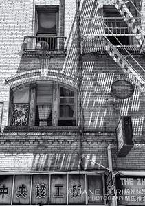 Fire Escape and Shadows, Chinatown