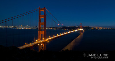 Evening Sky and Golden Gate