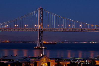 Bay Bridge Lights and Pier