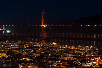 Golden Gate Night Reflections