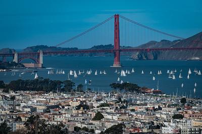 San Francisco Bay and Sailboats