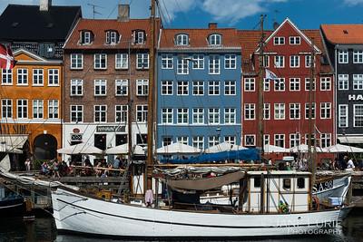 Nyhavn Boat and Houses, Copenhagen