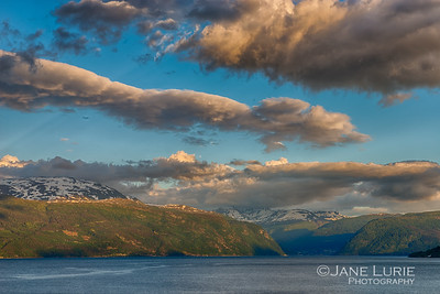 Sunset and Fjords, Norway