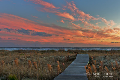 Sunset and Boardwalk, Kiawah Island