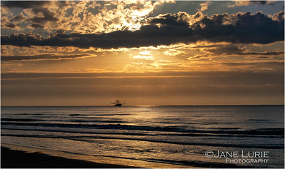 Sunrise, Solitude and Shrimp Boat. Kiawah Island, SC