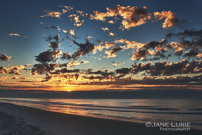 A magnificent sunrise on Kiawah Island.