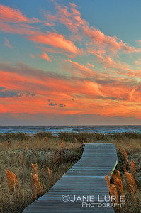 Sunset and Boardwalk II (Portrait)