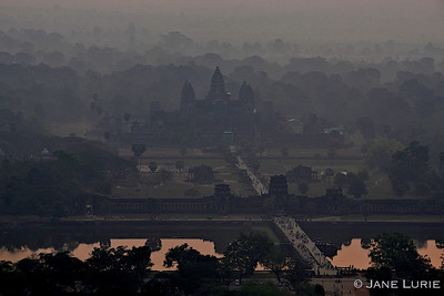 Angkor Wat at dawn from a hot air balloon... an amazing moment.