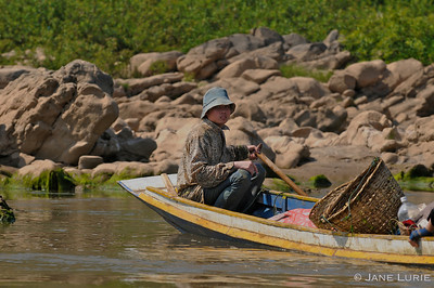 Fishing on the Mekong River, Laos