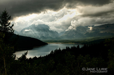 Afternoon Storm, Glacier National Park (Color)