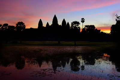 Angkor Wat at dawn, Siem Reap, Cambodia