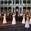 02 Mar 2007, Honolulu, Oahu, Hawaii, USA --- Dancers from Halau Hula Olana perform in front of the Iolani Palace at the opening ceremony of the Return to Romance Festival in Honolulu, Hawaii, March 1, 2007. The festival included a wedding vow renewal and the 40-piece Matt Catingub Orchestra. Picture taken March 1, 2007.  REUTERS/Lucy Pemoni  (UNITED STATES) --- Image by © LUCY PEMONI/X01574/Reuters/Corbis