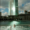 "**ADVANCED FOR WEEKEND AND MONDAY JULY 15 TO 17**<br /> James Wills, a professor at the University of Hawaii enjoys a jacuzzi on the pool leval of the luxury high rise ""Hokua"" in Honolulu, July 11, 2006. (AP Photo/Lucy Pemoni)"