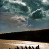 Oahu, Hawaii, USA --- Original caption: One of the several outriggers belonging to the Hui Nalu Canoe Club is silhouetted against the seashore, after a late afternoon practice at Hawaii Kai Beach in East Oahu, Hawaii, on July 8, 2003. The outriggers are a common sight along the coast of the island.  REUTERS/Lucy Pemoni --- Image by © Reuters/CORBIS