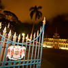 07 Dec 2010, Honolulu, Oahu, Hawaii, USA --- The Iolani Palace Pearl Harbor, the only royal palace in America, glowing with holiday lights Wednesday, Dec. 22, 2011, in Honolulu, Hawaii.  LUCI PEMONI PHOTO --- Image by © Lucy Pemoni/Corbis