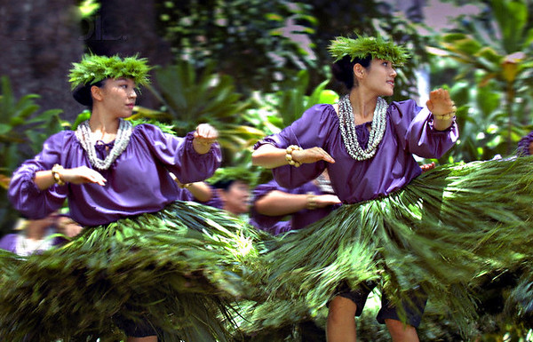 10 Jul 2006, Honolulu, Oahu, Hawaii, USA --- Dancers from the Halau Kekuaokalaaualailiahi of Wailuku, Maui, compete in the 29th Annual Prince Lot Hula Festival held by the Moanalua Gardens Foundation outside Honolulu, Hawaii, on July 8, 2006. The festival is named after Prince Lot, who reigned as King Kamehameha V from 1863 to 1872 in Hawaii. Picture taken July 8, 2006.       REUTERS/Lucy Pemoni --- Image by © LUCY PEMONI/X01574/Reuters/Corbis