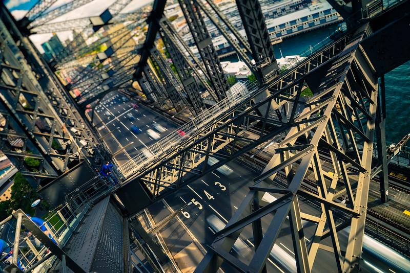 Spanning The Sydney Harbor Bridge