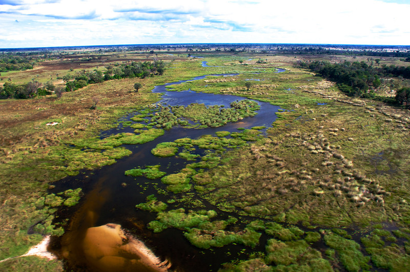 Okavango Delta Aerial Lake