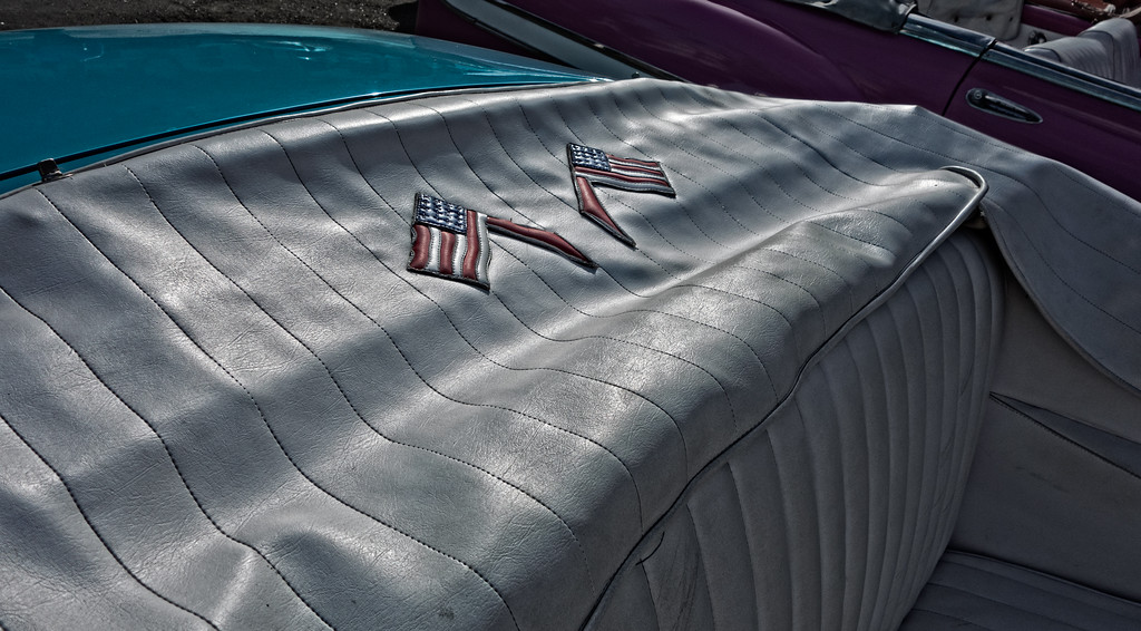 1955 Chevrolet Bel Air Flags