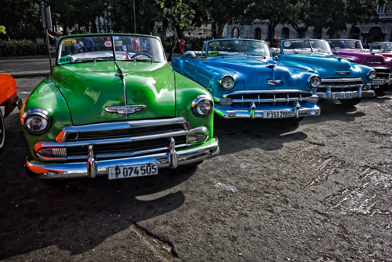 Parked Classic Cars