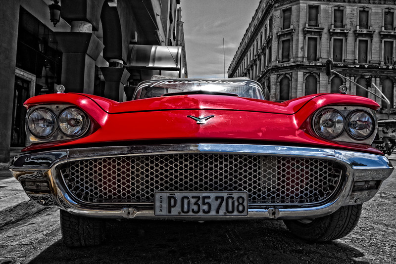 1959 Ford Thunderbird Convertible B&W