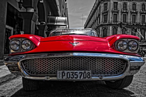 1959 Ford Thunderbird Convertible B&W