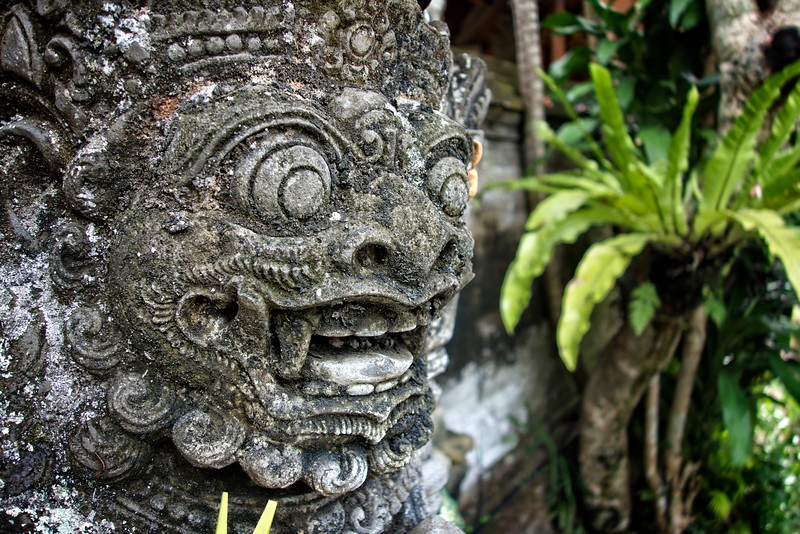 Ubud Palace Statue Head