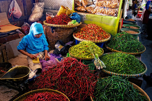 Chili Stand Beringharjo Market