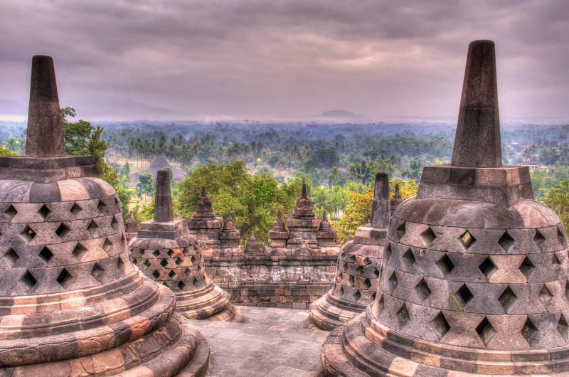 Borobudur Stupas 1