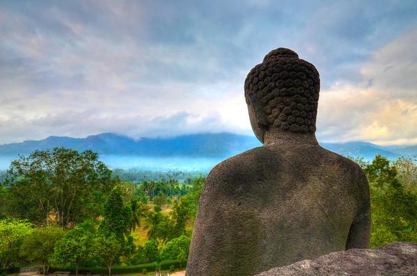 Borobudur Budda View