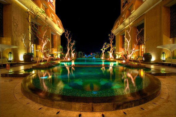 Hotel Tentrem Pool at Night