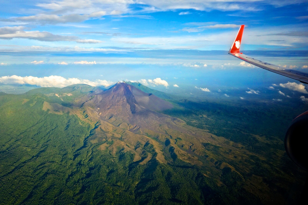Mount Lokon from Plane
