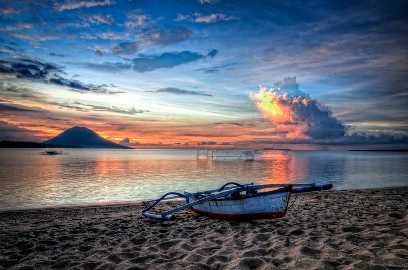 Siladen Boat Sunset